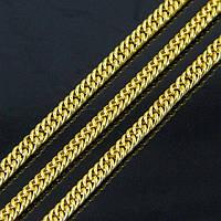 Цепь Железная Двойная, Цвет: Золото, Звено: 4x3мм, Толщина 0.6мм, (УТ100007223)