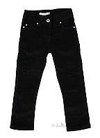 Вельветовые брюки для девочки Китай 2052 р.98 черный