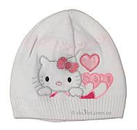 Шапка для девочки Китти Щасливе дитинство SHD-038 р.48 белый