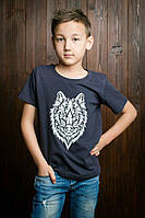 Модная футболка для мальчика с рысунком тигра