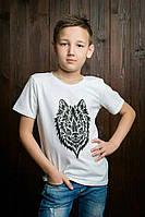 Модная футболка для мальчика с оригинальным рисунком