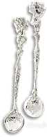 Ложка серебряная с Ангелочком 80230