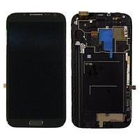 Дисплей (модуль) + тачскрин (сенсор) с рамкой для Samsung Galaxy Note 2 N7100 N7102 N7105 N7108 (черный цвет)