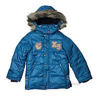 Зимняя куртка для мальчика тм Бэмби KT107 р.122