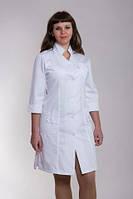 Молодежный женский медицинский халат на пуговичках