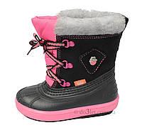 Зимние сапоги для девочки Demar BILLY р.26 черный с розовым