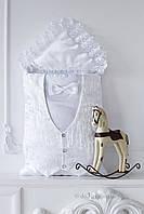 Зимний конверт-жилетка для мальчика Flavien 2008мех белый