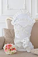 Велюровый конверт-одеяло Flavien 1032мех молочный