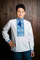 Вышитая детская рубашка с манжетами и попонами