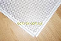 Перфорированная потолочная плита из алюминия белая/серая перфорация D=1.5мм. Стандарт