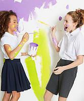 Школьные блузки, рубашки, поло для девочек  George M&S F&F.