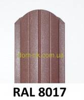 Штакет металлический 108мм  RAL 8017 матовый АКЦИЯ Металл Германия 0,5мм