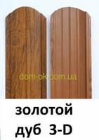 Штакет металлический 108 мм  -под дерево 0,42 мм Китай Золотой дуб 3Д