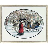 """35053 • Набор для вышивания крестом """"Зимние впечатления//Winter Impressions"""" DIMENSIONS Gold Collection"""