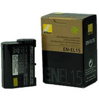Аккумулятор Nikon EN-EL15 для 1 V1 D600 D610 D750 D800 D800E D810 D810A D7000 D7100 D7200 D8000 V1