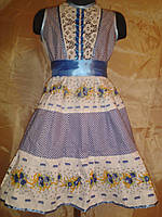 Сатиновое платье на 1,5 - 2 года