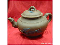 Чайник заварочный глиняный (400мл.)(17х10х10 см) ( 22457)