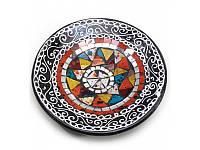 Блюдо терракотовое с мозаикой (d- 20 h-4 см) ( 29385A)