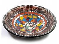 Блюдо терракотовое с мозаикой (d- 20 h-4 см) ( 29385)