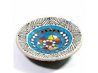 Блюдо терракотовое с мозаикой (d- 15,5 h-2,5 см) ( 29386)