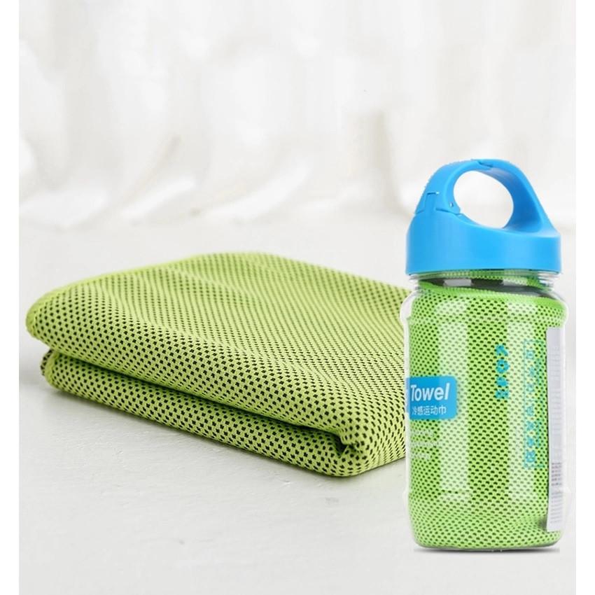 Полотенце для тренировки Rock Sports Cooling Towel (Fluorescent Green)