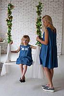 Джинсовое платье модного кроя