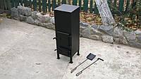 Печка из металла 3 - 4 мм, в комплекте с совком и кочергой / ручная работа