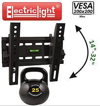 Кронштейн ElectricLight LCD-61М  наклон vesa до 200*200