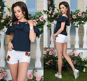 Блуза розы с вышивкой , фото 2