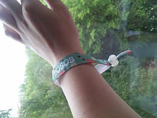 Текстильний браслет з індивідуальним дизайном, під замовлення .