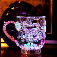 Светящийся бокал с драконом c LED подсветкой