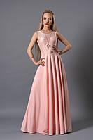 Нежное нарядное длинное платье