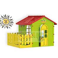 Игровой детский домик высотой 120см (Большой с заборчиком)
