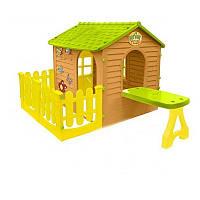 """Большой детский игровой домик """"Лесной + столик + терраса"""""""