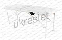 Standart Массажный стол-кушетка двухсекционный складной Слоновая кость