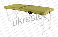 Standart Массажный стол-кушетка двухсекционный складной Фисташковый