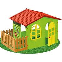 Увеличенный детский игровой домик с заборчиком, фото 1