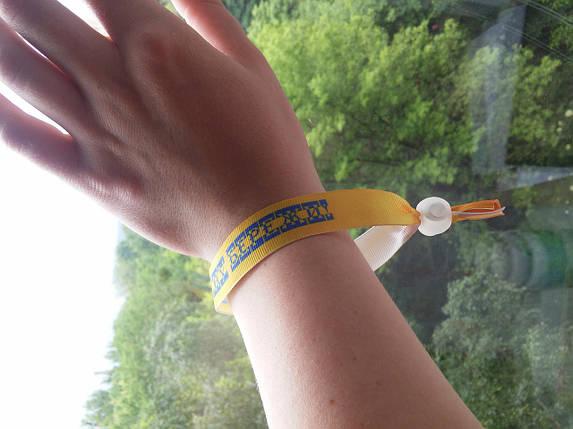 Текстильний браслет: Боже, Україну бережи!, фото 2