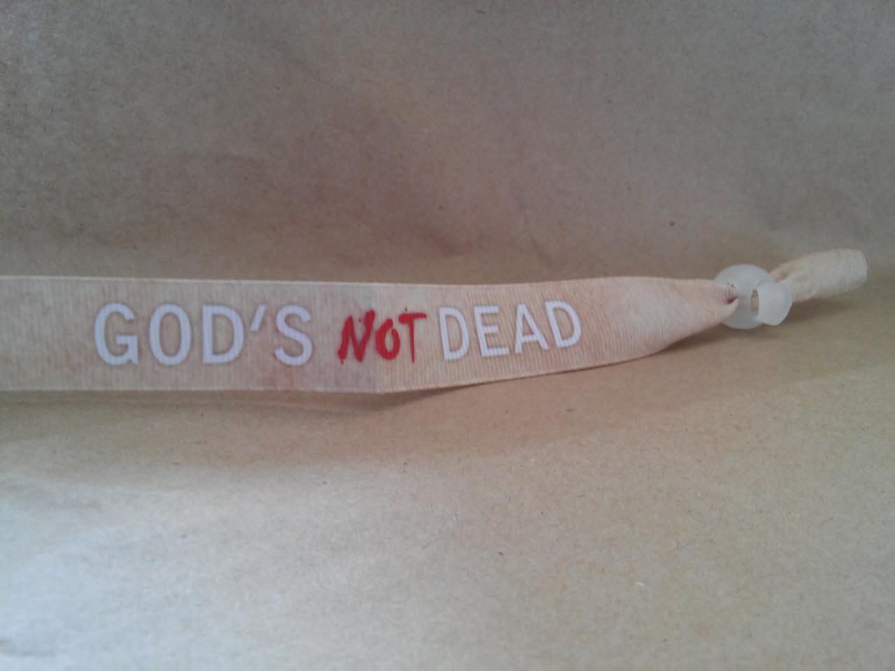 Текстильний браслет: God's not DEAD