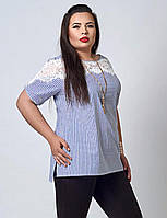 Женская блуза в мелкую полоску
