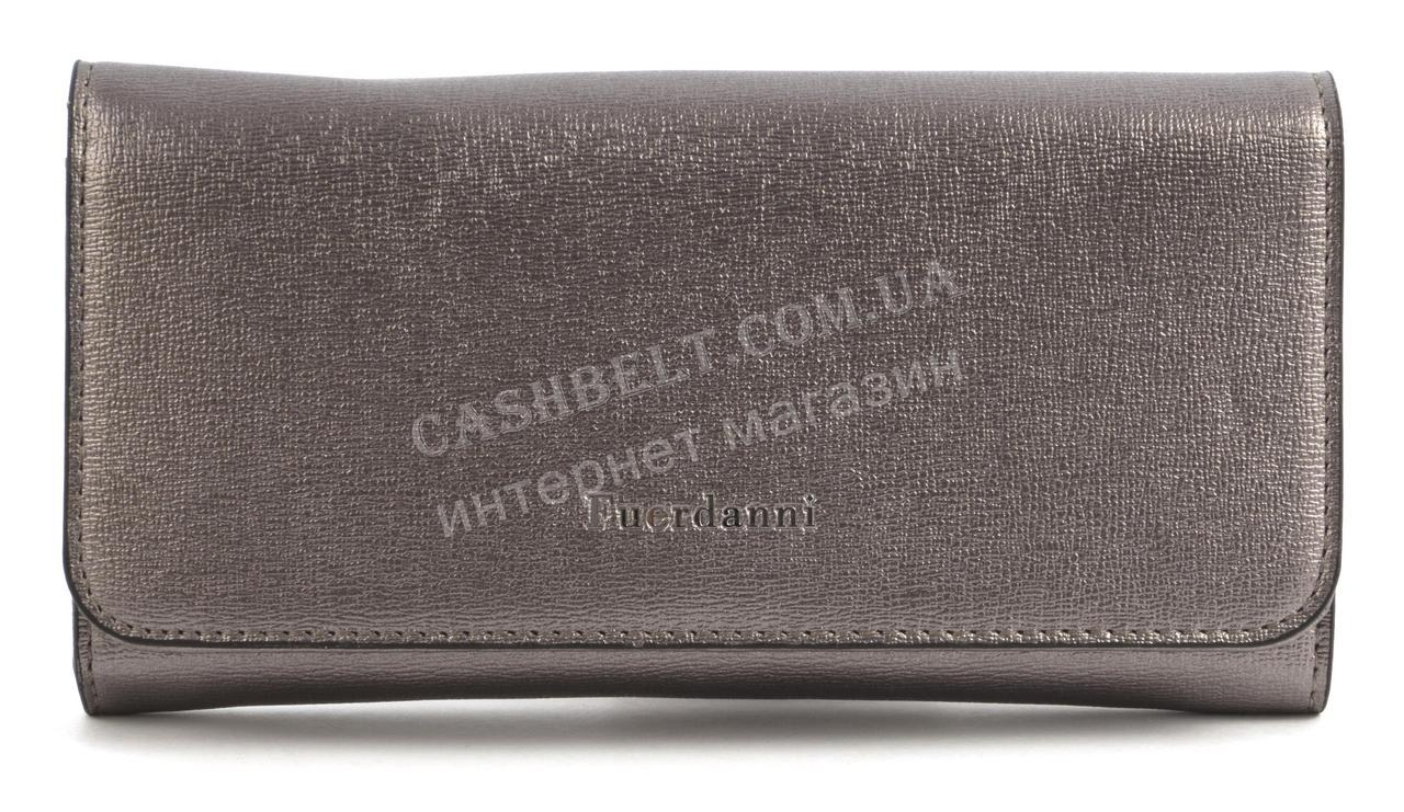 Стильный удобный женский кошелек классика с качественной эко кожи FUERDANI art. FA082-3 серебро
