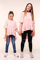 Летняя туника для девочки подростка, 134 - 164 см. Модная детская, подростковая блуза.