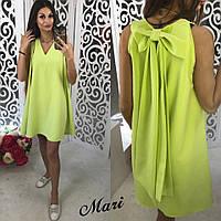 Платье женское короткое с бантом разные цвета 2SMmil1490
