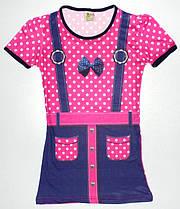 """Платье - туника  """" Горошек"""" для девочки 8,9,10,11,12 лет (ткань масло) Турция"""