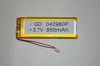 Универсальный аккумулятор (АКБ, батарея) для китайских телефонов 3.7V 950mAh (0.4*29*80mm)