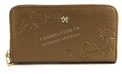 Вместительный удобный женский кошелек барсетка с качественной эко кожи SARALYN art. 213 коричневый