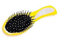 Расческа для волос, массажная, с железными зубцами, цвета в ассортименте 25_1_12