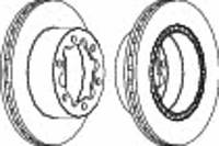Тормозной диск задний Mercedes-Benz Sprinter 906 Ferodo