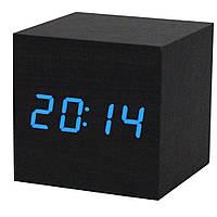 Супер цена Электронные настольные часы под дерево 1293 (подсветка: синяя)