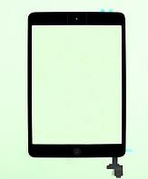 Тачскрин / сенсор (сенсорное стекло) для Apple iPad mini | iPad mini 2 (черный, с микросхемой, с кнопкой Home)